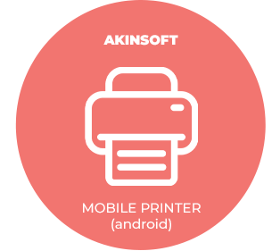 AKINSOFT Mobil Printer